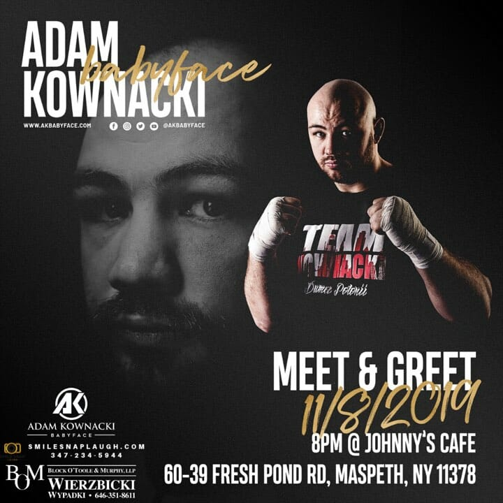 Meet & Greet With Adam Kownacki at Maspeth, NY